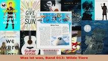 Lesen  Was ist was Band 013 Wilde Tiere Ebook Frei