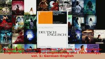 Lesen  Wörterbuch der industriellen Technik Bd1 DeutschEnglisch Dictionary of Engineering and Ebook Frei
