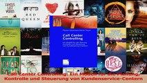 Lesen  Call Center Controlling Ein Modell für die Planung Kontrolle und Steuerung von PDF Frei