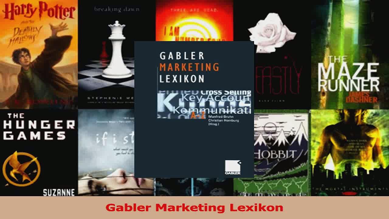 Lesen  Gabler Marketing Lexikon Ebook Frei