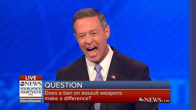 Democratic debate heats up over guns: 'Calm down a bit, Martin' – video