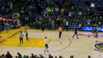 Steph Curry Hits 4 Consecutive Deep 3-Pointers During Warmup - Dec 18, 2015 - NBA 2015-16 Season