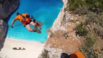 People Are Awesome highest Dream Jump in Greece Navagio beach Bungee Jump