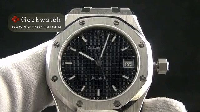 Audemars Piguet AP0179A Royal Oak Automatic SS SS Black Asian Eta 28242