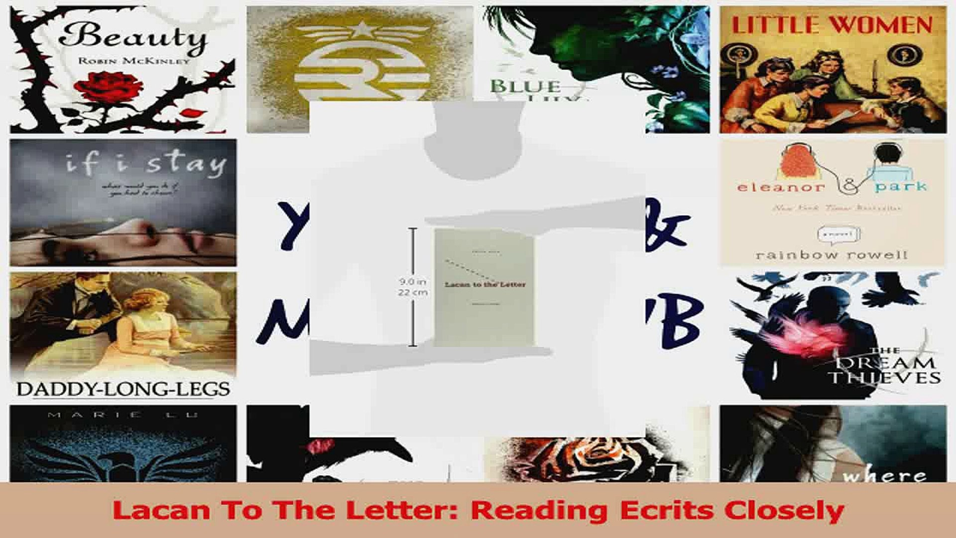 Lacan to the Letter: Reading Ecrits Closely