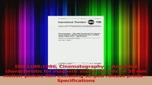 ISO 11891986 Cinematography  Recorded characteristic for magnetic sound records on 35