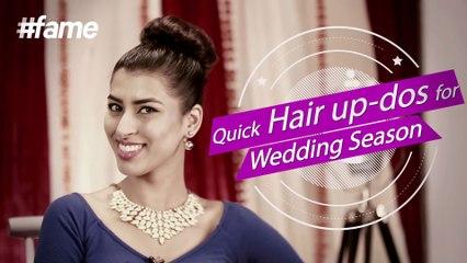 Quick Hair Up-dos For Wedding Season   #fame Fashion