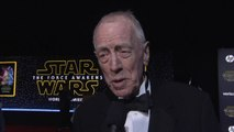 Star Wars: The Force Awakens Premiere: Max Von Sydow