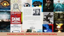 PDF Download  Camera Lucida Reflections on Photography Download Online