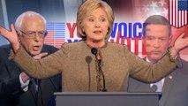 Clinton, Sanders and some other guy blast Trump in third Democratic debate