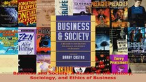 Download  Business and Society A Reader in the History Sociology and Ethics of Business Ebook Free