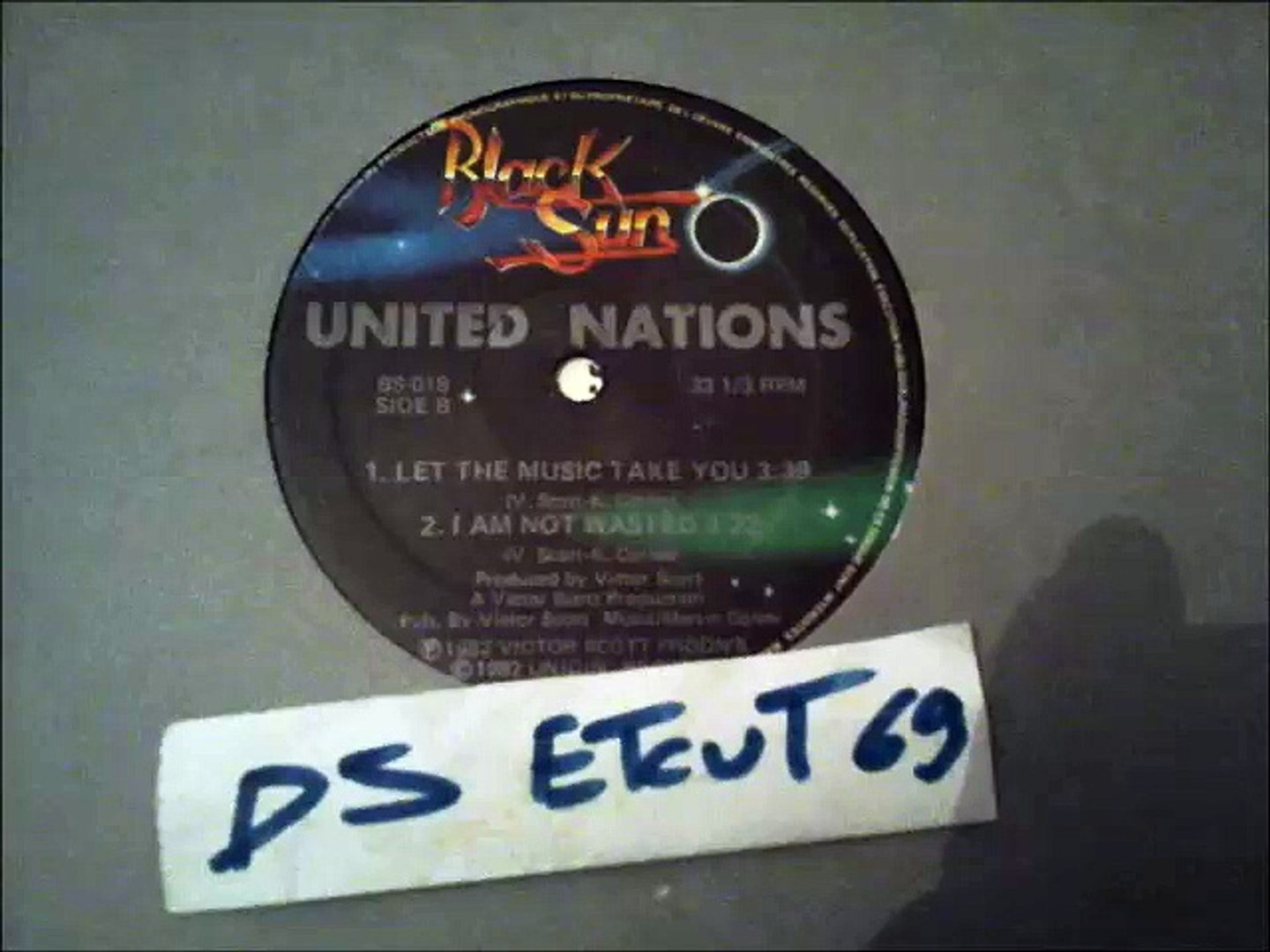 UNITED NATIONS -I AM NOT WASTED(RIP ETCUT)BLACK SUN REC 82