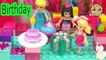 Surprise Blind Bag Lego Play Video at Barbie Doll Chelseas Birthday Party with Queen Elsa