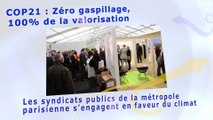 COP21 : les syndicats publics de la métropole parisienne s'engagent en faveur du climat