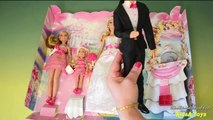 Barbie Wedding Set Barbie and Ken Bride and Groom Dolls Bridesmaids Dolls Barbie Toy Engli