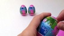 Kinder Überraschung 4 Peppa Pig Surprise Eggs Unboxing - Kidstvsongs Toy Review preschool