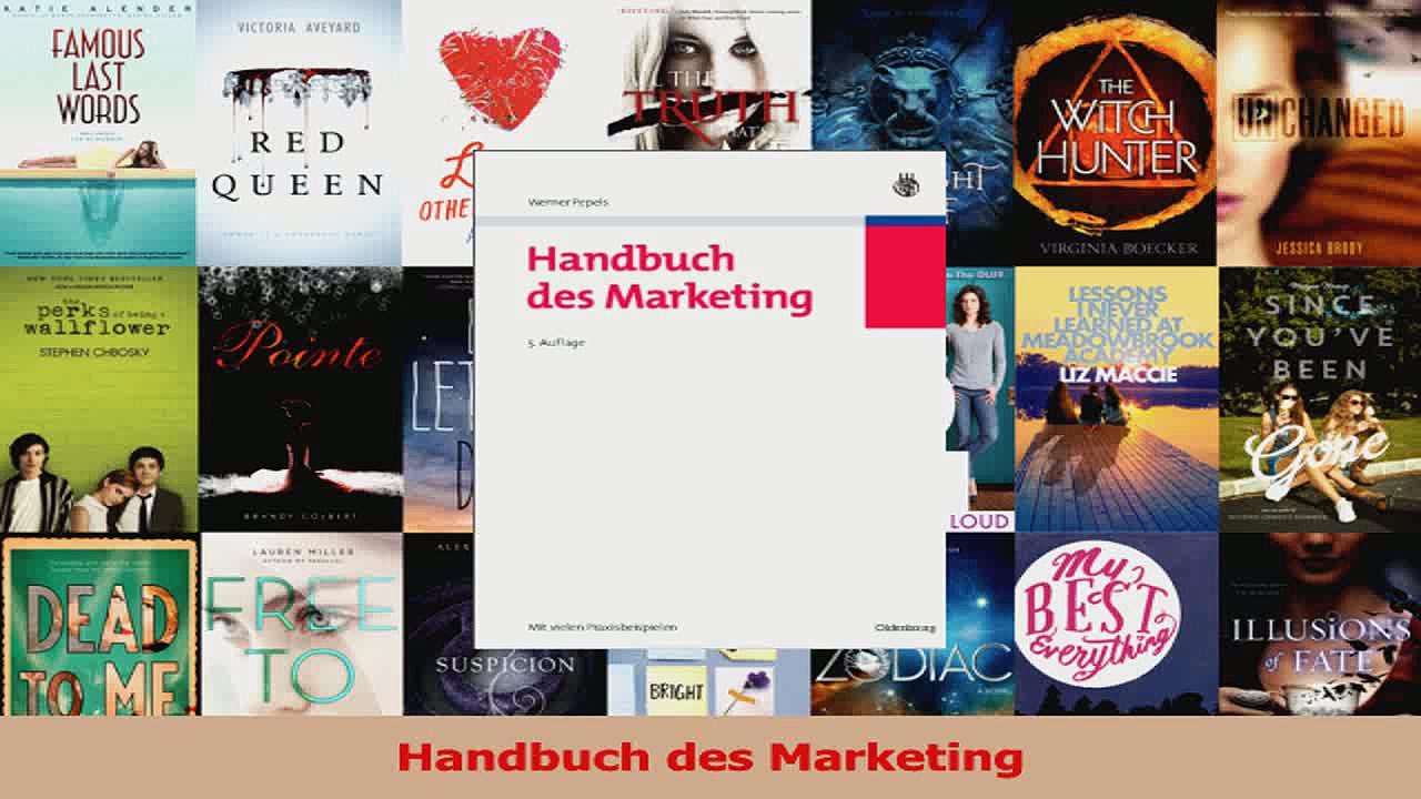 Lesen  Handbuch des Marketing Ebook Frei