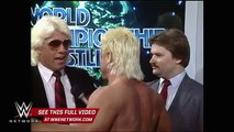 WWE Network׃ Ron Garvin issues a challenge to Ric Flair׃ NWA Wrestling, Dec. 21, 1985