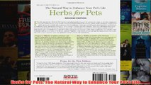 Herbs for Pets The Natural Way to Enhance Your Pets Life