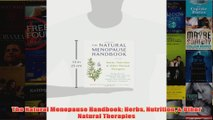 The Natural Menopause Handbook Herbs Nutrition  Other Natural Therapies