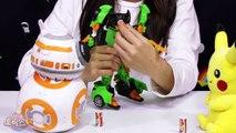샤라라와 헬로카봇이 함께 하는 스타워즈 다스베이더 BB-8 피카츄 변신 놀이 Hello Carbot Starwars Darth Vader BB-8 Pikachu