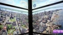 L'ascenseur du World trade center montre l'évolution de New York à travers les années de 1500 à nos jours