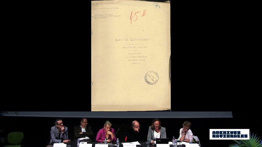 Deuxième table ronde. L'internement. Interventions d'Hélène Say et de Marion Veyssière.