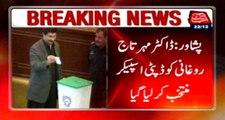 Peshawar: Dr Mehar Taj Roghani elected as Deputy Speaker of KPK Assembly