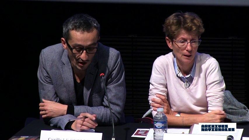 Deuxième table ronde. L'internement. Intervention de Cyrille Le Quellec.