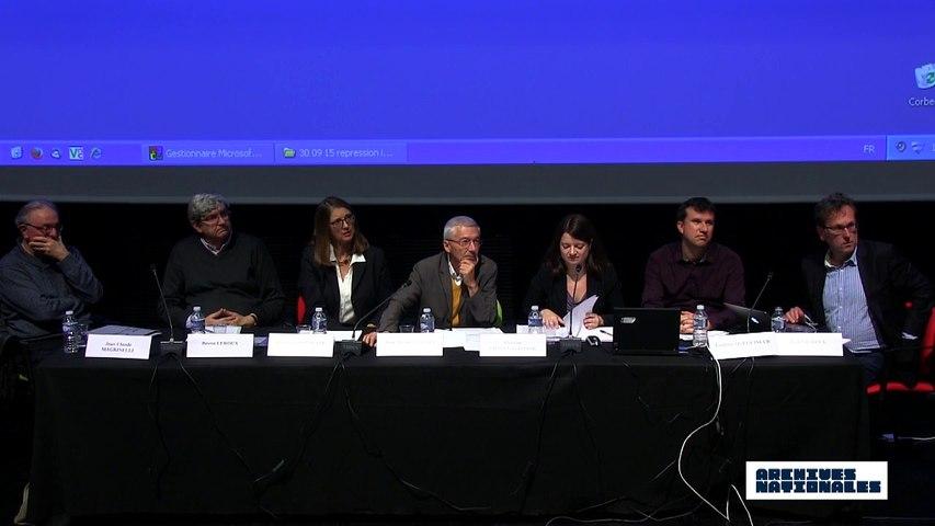 Première table ronde : la répression. Débat avec le public.