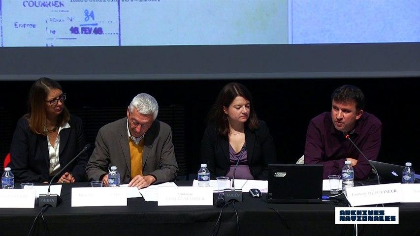 Première table ronde : la répression. Intervention de Frédéric Quéguineur.