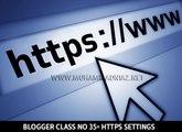 Blogspot HTTPS Settings in Urdu Language