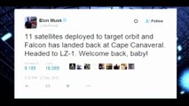 SpaceX Successfully Lands Rocket After Launch of Satellites Into Orbit