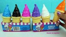 Helados de Burbujas Aprende los Colores - Ice Cream Bubbles