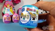 FROZEN and Disney PRINCESS unboxing FASHEMS, BLIND BAGS and a giant SURPRISE egg – 3S