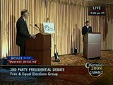 Ralph Nader Third Party Presidential Candidate Debate Moderated by Chris Hedges (2008)