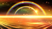 4K Colorful Double Rainbow Falling Snow 3D Sunset UHD HD Background Animation