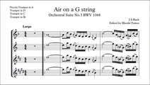 Bach BWV1068 Air on a G string - trumpet solo accompaniment