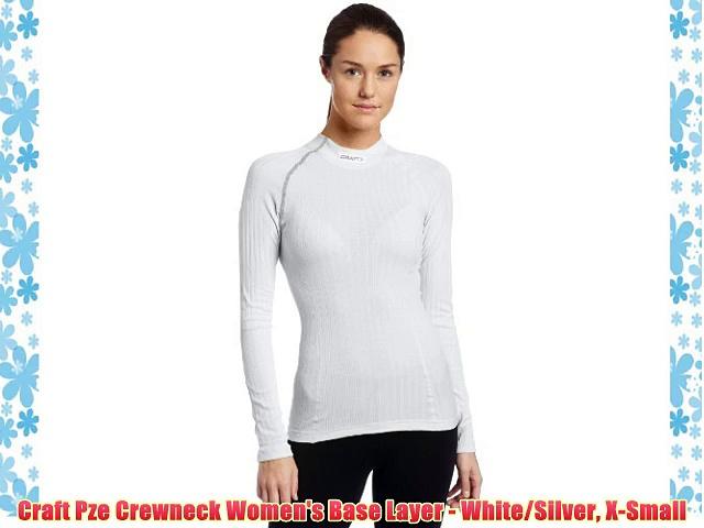 Craft Pze Crewneck Women's Base Layer – White/Silver X-Small
