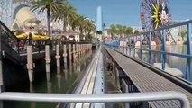 building California Screamin' Roller Coaster Front Seat POV Disneyland California Adventure2014 #2