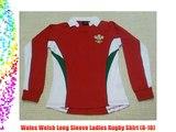 Wales Welsh Long Sleeve Ladies Rugby Shirt (8-10)