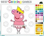 噶噶 Peppa Pig Bailarina Fun Episode Coloring peper pig