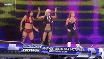 WWE Michelle McCool,The Bella Twins and Maryse,Victoria,Natalya show