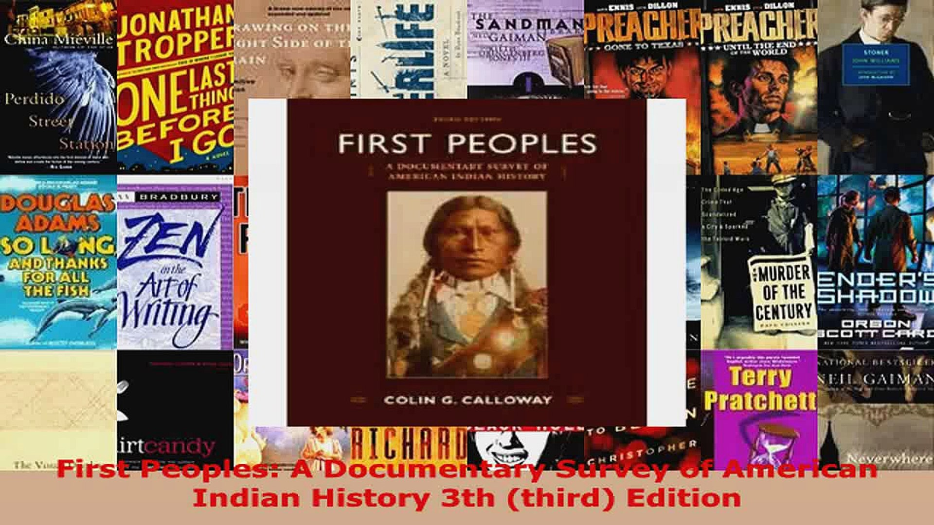 Download  First Peoples A Documentary Survey of American Indian History 3th third Edition Ebook Free