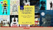 PDF Download  Womens DecisionMaking Common Themes    Irish Voices Download Online