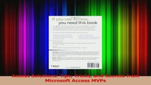 PDF Download] Access Solutions: Tips Tricks and Secrets from