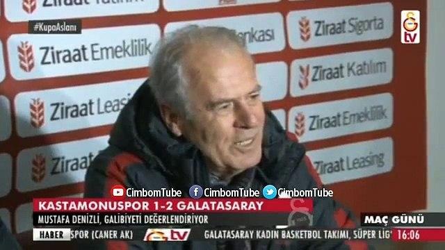 Mustafa Denizlinin Maç Sonu Basın Toplantısı Kastamonuspor Galatasaray 1 2
