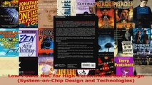 PDF Download  LowPower NoC for HighPerformance SoC Design SystemonChip Design and Technologies Read Full Ebook