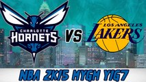 Watch Los Angeles Lakers Vs Charlotte Hornets Live Streaming 29 December 2015