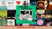 PDF Download  MICRO WAYS Recipes for Busy Days Lazy Days Holidays Every Day PDF Online